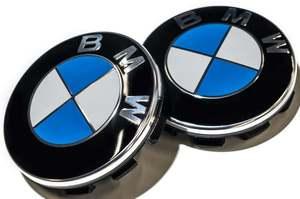 КИТАЙ K41065 Колпачок   На диск BMW  синий без отражат. мал.  D=53mm/56mm