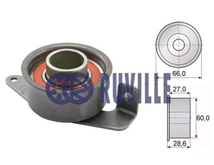 RUVILLE 55214 Ролик   ГРМ F*ES/FS 1,8D  -95 натяж.  Глад. c/кроншт.