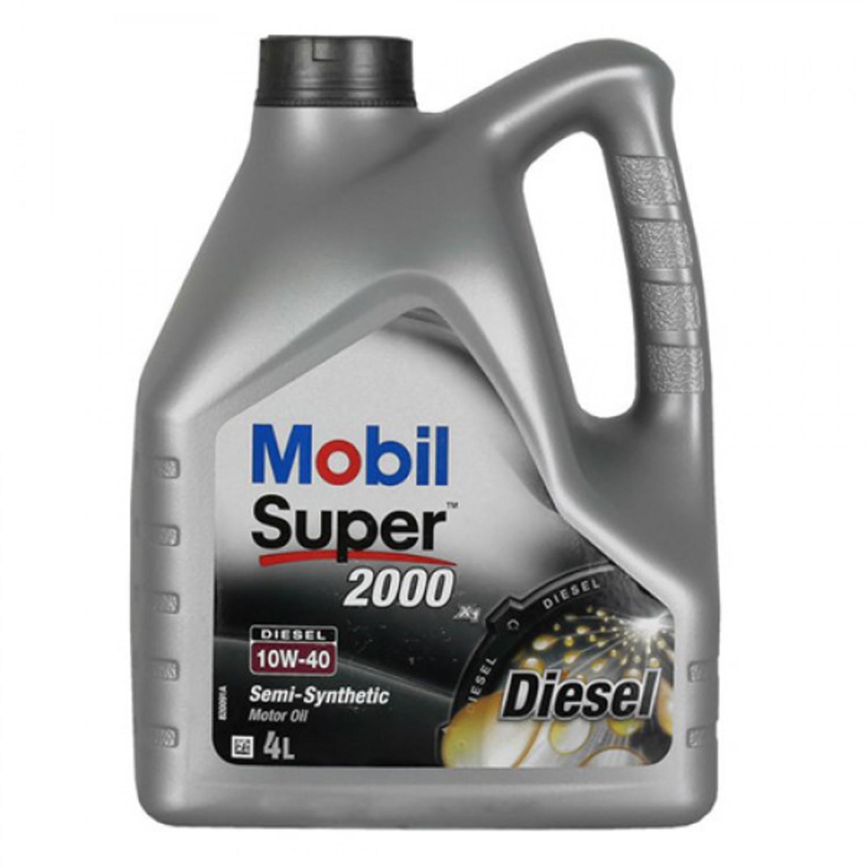 MOBIL SUPER 2000 D-4L Масло авто моторн.   10W40 SUPER S (super 2000 diesel)   4L  П/СИНТ