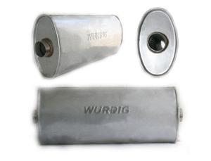 WURDIG 88-18 Глушитель   Бочка универс. овал 30.89  сквозной