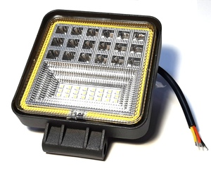 КИТАЙ K42880 Фара   Пр./Тум. Диод.  42-LED прямоуг. 2-режим. Бел./Жёл.  Рамка габарит.