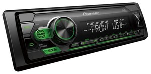 PIONEER MVH-S110UBG МАГНИТОЛА АВТО без CD/DVD большая  USB/AUX (зелён. подсветка)