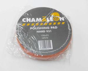 Chamaleon 49310 Абразивы   Губка Полировальная на липучку D=150mm  Оранж. плоск. жёстк. 150*25мм
