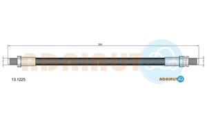 ADRIAUTO 13.1225 Шланг   Тормозной Перед.  F*SR2/SCR  L-355mm