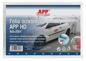 APP 070703 Накидка   Плёнка Для покраски Folia HD (40шт.)синие  полиэт. пленка 4*5м. S=5,5 мкм