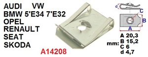 ОРИГИНАЛ A14208 Закладные   Под саморез крепёжная  20дл.*15шр.  D4,2mm