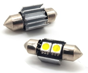 КИТАЙ K14328 Диод световой 12v   C10W (SV8,5) L=31mm   2-led+рад. Canbus  Подсв. салона, багажн., номерн. знака.