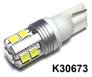 КИТАЙ K30673 Диод световой 12v   W3W (W2,1x9,5d) Бел. 10-led б/поляр.