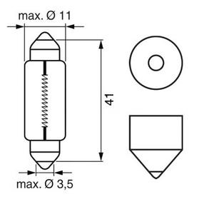 TRIFA TR01208 Лампа 24v C5W  SV8,5