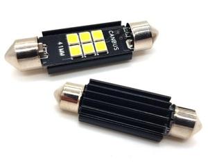 КИТАЙ K14109-A2 Диод световой 12v   C10W (SV8,5) L=41mm   6-ср led+рад. Canbus  Подсв. салона, багажн., номерн. знака.
