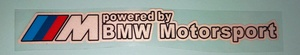 КИТАЙ K19705 НАКЛЕЙКА   Надпись BMW M-SERIA Motorsport (бел.надпись)  BMW M-SERIA Motorsport