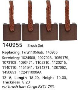 CARGO 140955 Щётка   Стартера F*TRS 00-  8,2-18,8-17,7