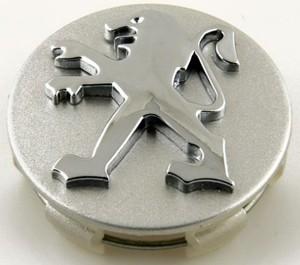 КИТАЙ K19700 Колпачок   На диск PEUGEOT (серебр.фон. / хром. знак)  D=60mm
