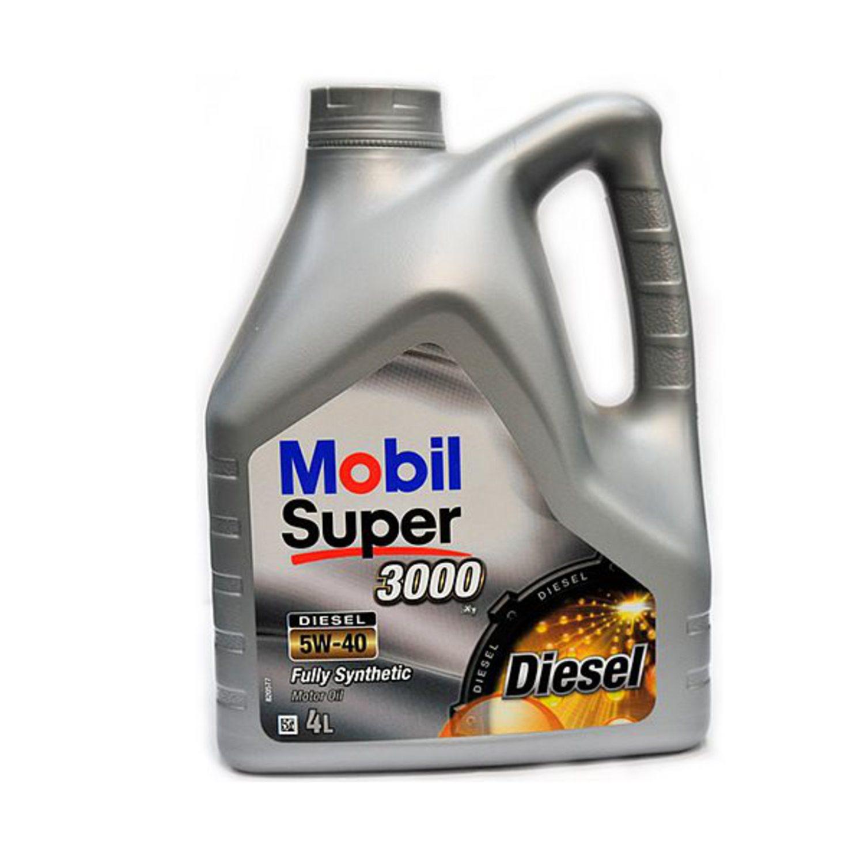 MOBIL SUPER 3000 D-5L Масло авто моторн.    5W40 SINT S (super 3000 diesel)        5L  СИНТ.