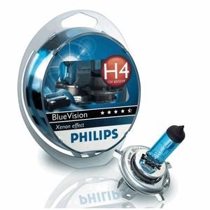 PHILIPS 12342BV -SET!!! ЛАМПА К-Т H4    60/55W +2*5W  BLUE VISION
