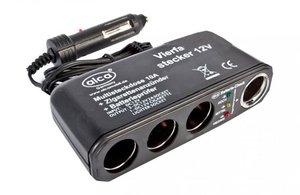 ALCA 510.400 Разветвитель в прикуриватель 4-ВЫХ+кабель  12V