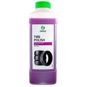 GRASS 121201 ПОЛИРОЛЬ   Автошины Чернитель (блеск)  Black rubber (концент.)