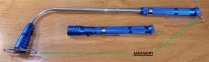 POLICE K27423 Фонарик 2-магнит.  телескоп  (синий)