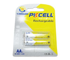 PKCELL 1300-2B Батарейка   Аккумуляторная 130AAHCE  ReCyko+ (1000 цикл. заряд/разр.)   1.2V 1300 мАч (в блист. 2шт.)