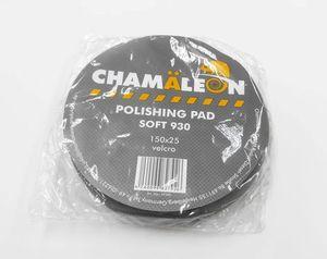 Chamaleon 49300 Абразивы   Губка Полировальная на липучку D=150mm  Чёрн. плоск. мягк. 150*25мм