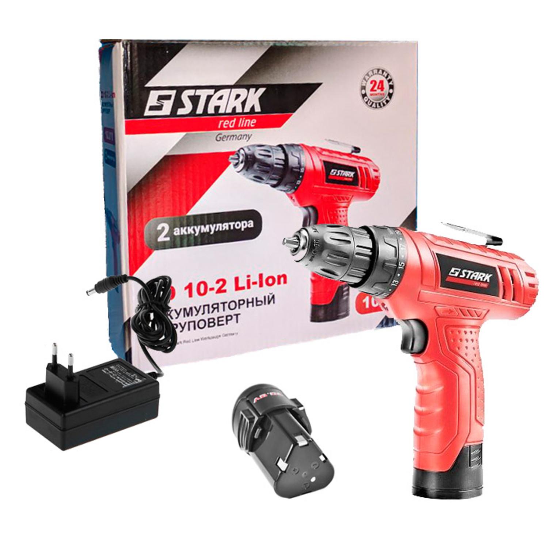 STARK 210070016 Оборуд. электро   Аккумуляторный инструмент Шуруповерт Stark CD10-2 Li-Ion  10.0В / 1.3А/ч / Li-Ion / Патрон 1-10мм