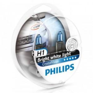 PHILIPS 12258CV -SET!!! ЛАМПА К-Т H1  55W   4300K + 2*5W  CRISTAL VISION