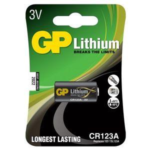 GP CR123A U1 Батарейка   Литиевая LITHIUM CR123A U1   3V (в блист. 1шт.)