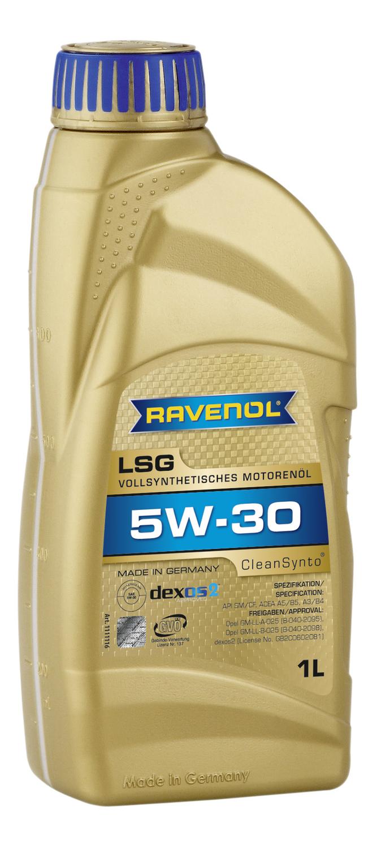 RAVENOL LSG-LL-1L Масло авто моторн.    5W30 LSG  LONGLIFE  1L  СИНТ. (ЗАМЕНЁН НА HLS)