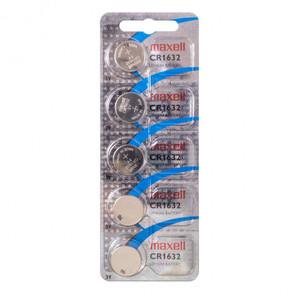 MAXELL CR1632 Батарейка   Литиевая LITHIUM CR1632   3V (в блист. 5шт.)