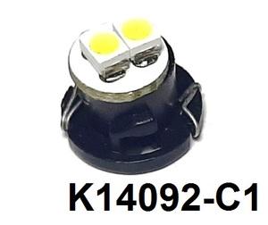 КИТАЙ K14092-C1 Диод световой 12v   T4.7 1,2W Бел.  2-led  Пр.панель с/цок.