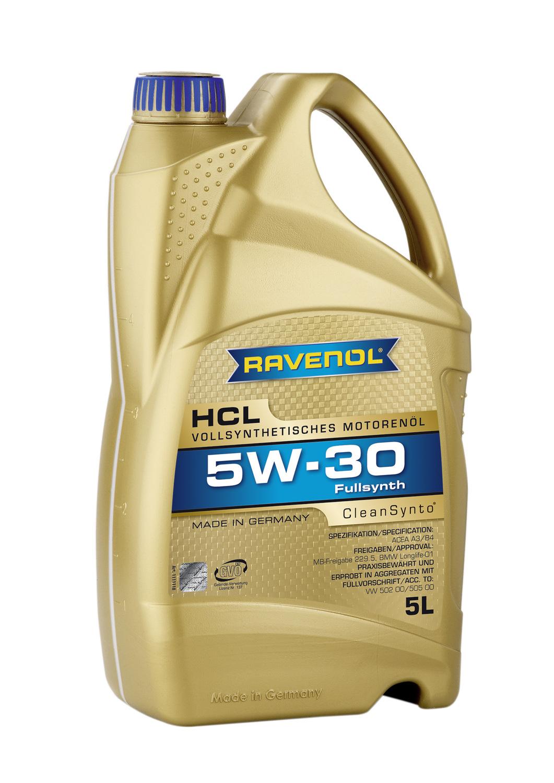 RAVENOL HCL-5L Масло авто моторн.    5W30 HCL SAE  5L  СИНТ.