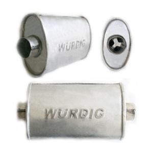 WURDIG 88-11 Глушитель   Бочка универс. овал 08.20  сквозной
