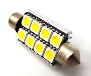 КИТАЙ K14108-A3 Диод световой 12v   C10W (SV8,5) L=41mm   8-ср led+рад. Canbus  Подсв. салона, багажн., номерн. знака.