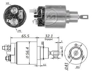 VR VR-SB0575 РЕЛЕ ВТЯГИВАЮЩЕЕ VW* 1,1/1,3 --98 / OP*CD 1,8 2,0 --91,V  под конт см.131586 / ZM575