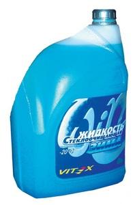 VITEX K1055 Очиститель   Стекла ЛОБОВ. VITEX (В БОЧ. ОМЫВ.)-20С украина  VITEX 1Л   -20С (зима)