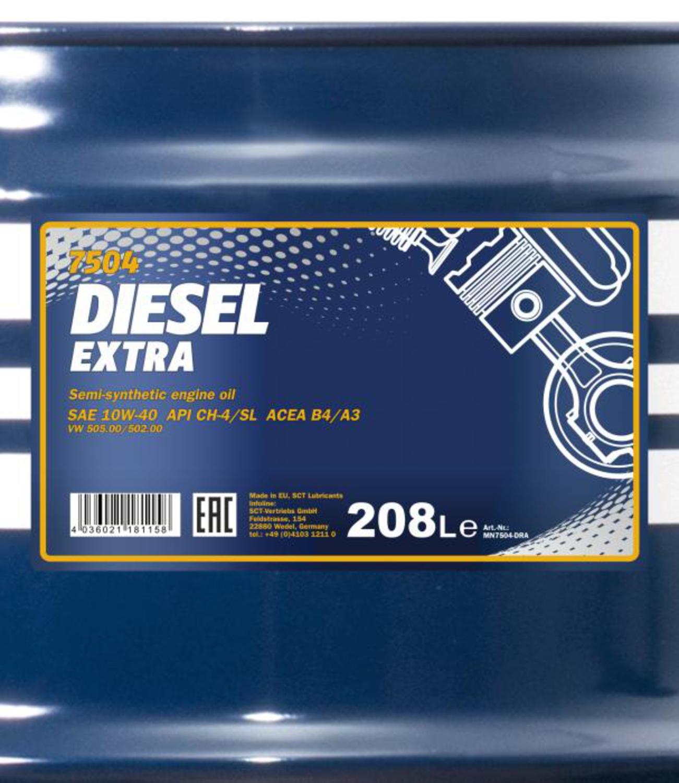 MANNOL D-EX-208L Масло авто моторн.   10W40 DIESEL EXTRA  1L  (208L)  П/СИНТ