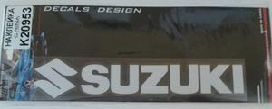 КИТАЙ K20953 НАКЛЕЙКА   Надпись SUZUKI 19,0х4,0cm  надпись прозрачн светоотраж.
