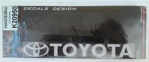 КИТАЙ K20950 НАКЛЕЙКА   Надпись TOYOTA 19,0х4,0cm  надпись прозрач бел-светоотраж.