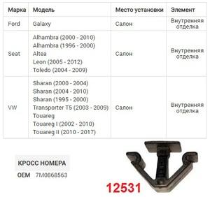 NAck 12531 Клипса   Фигурная