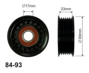 CX 84-93 Ролик   Руч.рем. F*C MX  03- натяж.  6-руч.