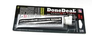 DoneDeaL DD6712 ГЕРМЕТИК   Упл.двиг. Формир. прокл. BLACK 85gm  тюбик, (чёрный)