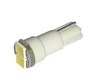 КИТАЙ K26234 Диод световой 12v   W2.3W (W2x4,6d) 1,2W Бел.  2-led  Пр.панель б/цок.