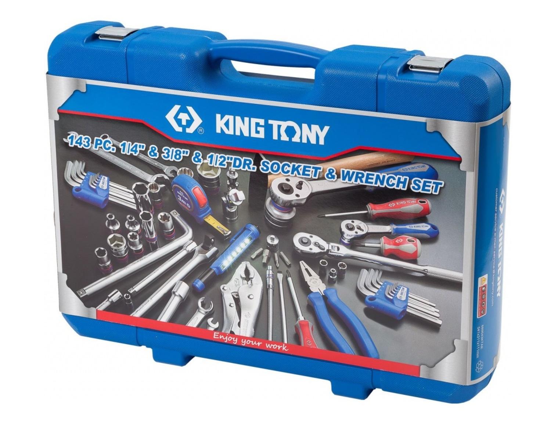 KING TONY SC9543MR01 Инструм. набор   Ассорти Универсальный, 143 предмета  143шт (син. пластм.40,0x56,0)