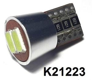 КИТАЙ K21223 Диод световой 12v   W3W (W2,1x9,5d) Бел.  2-led Canbus