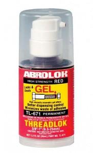 ABRO TL-671 Клей   Фиксатор резьбы permanent гель 35ml  красный -59С +149С