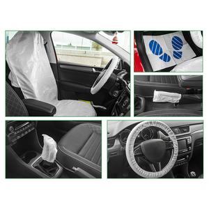 JBM 50916 Комплект Защитных накидок для салона авто.  5 предметов. (руль, кпп, сиденье, ручник, коврик)