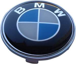 КИТАЙ K14393 Колпачок   На диск BMW  синий  без отражат.  D=63mm