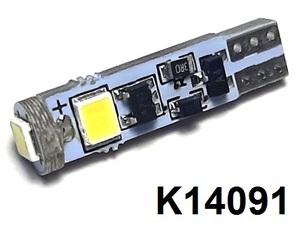 КИТАЙ K14091-B12 Диод световой 12v   W2.3W (W2x4,6d) 1,2W Бел.  3-led б/поляр.