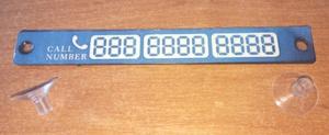 КИТАЙ K28802 АКСЕССУАРЫ Рамка телефонного номера  На присосках, светится от накопленного света