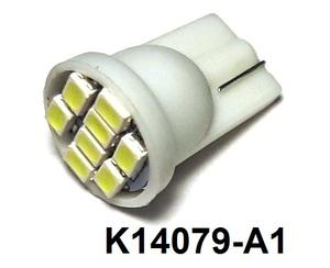 КИТАЙ K14079-A1 Диод световой 12v   W3W (W2,1x9,5d) Бел.  8-led  Габ. б/цок. подсветка номера